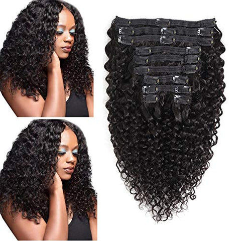 3C-4A Clip in Human Hair Extensions
