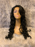 Long Curly Bang Lace Front Wig