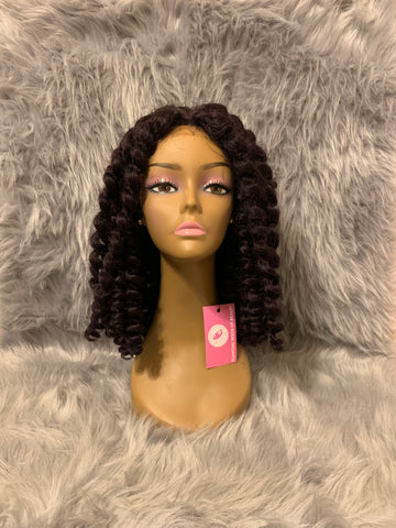 Crochet Wig with Skin Top Parting