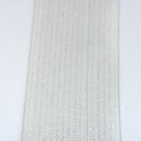 "1 ft of 1"" Knit Elastic in White"