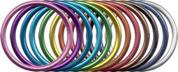 Extra Large Aluminum Sling Rings pairs