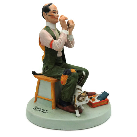 1980 Man Threading A Needle Norman Rockwell Figurine