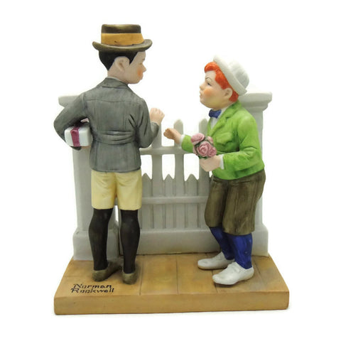 1980 The Rivals Norman Rockwell Figurine