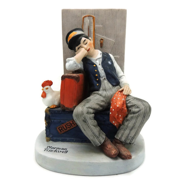 1980 Asleep On The Job Norman Rockwell Figurine