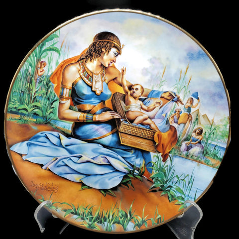 "The Promised Land Collector Plate ""Pharaoh's Daughter Finds Moses"""