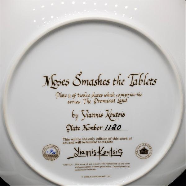 "The Promised Land Collector Plate ""Moses Smashes the Tablets"""