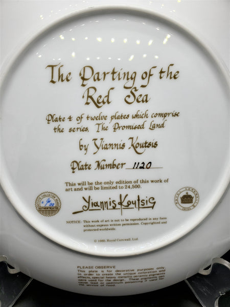 "The Promised Land Collector Plate ""The Parting of the Red Sea"""