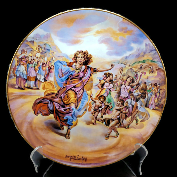 "The Promised Land Collector Plate ""Miriam's Song of Thanksgiving"""