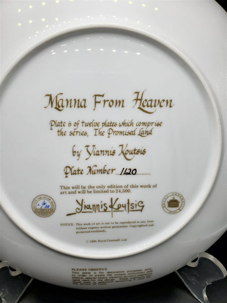 "The Promised Land Collector Plate ""Manna From Heaven"""