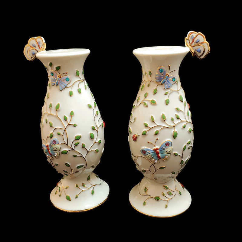 2006 Summer Enchantment Pair of Candlestick Holders by Lenox