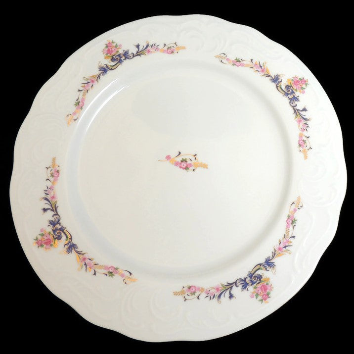 "MNU3 China Pattern by Menuet Made in Poland - 10 5/8"" Dinner Plate"
