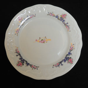 "MNU3 China Pattern by Menuet Made in Poland - 6 3/4"" Bread Plate"