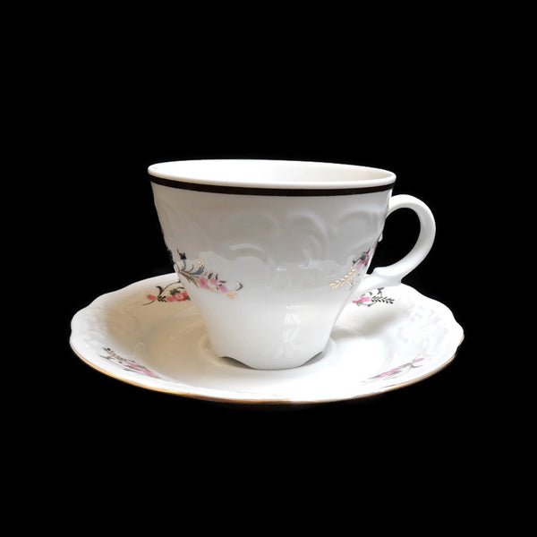 MNU3 China Pattern by Menuet Made in Poland - Tea Cup & Saucer Set
