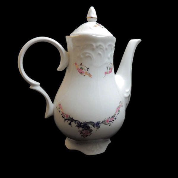 MNU3 China Pattern by Menuet Made in Poland - Coffee Pot & Lid