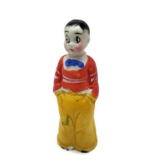 "1930's ""Harold Teen"" From Little Orphan Annie Bisque Figurine"