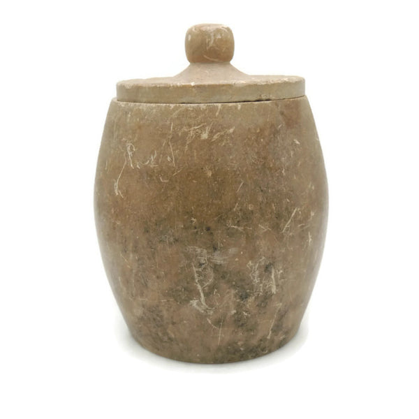 Vintage Carved Soapstone Jar