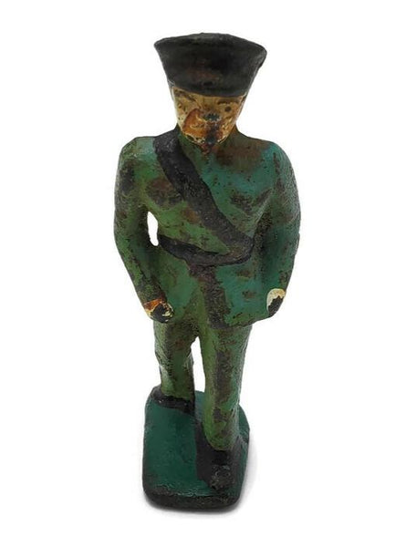 "1920's-1930's Cast Iron 3"" Policeman Toy Figurine"