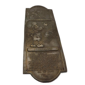 1955 Disneyland Brass Door Push Plate