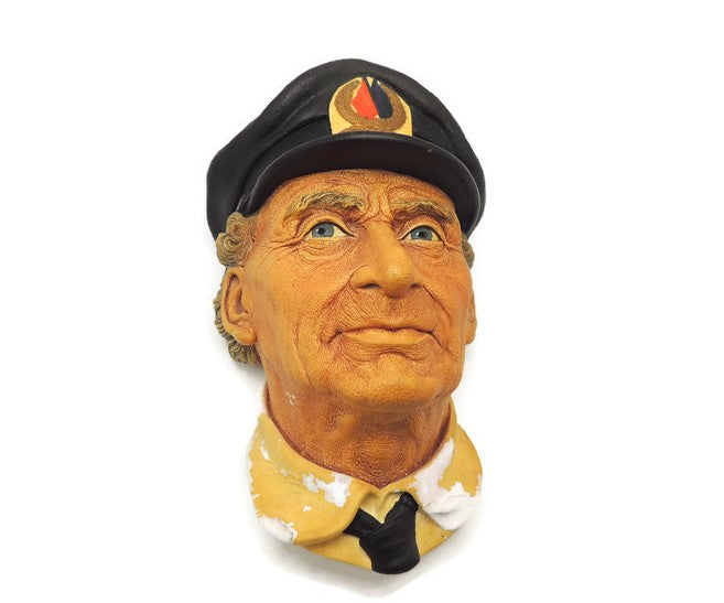 "1972 Chalkware ""Sea Captain"" Signed Bossons England"