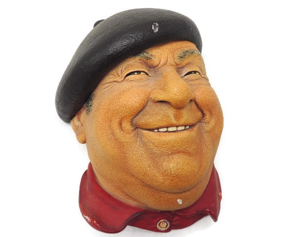 "1971 Chalkware ""Pierre"" Signed Bossons England"