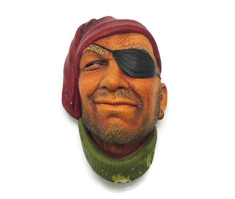 "1957 Chalkware ""Patched Eye Pirate"" Signed Bossons England"