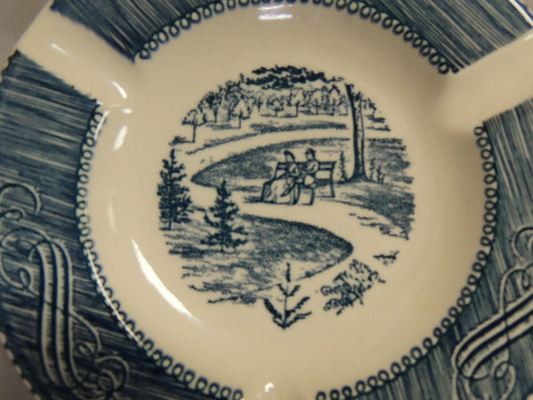 Vintage Currier & Ives Ashtray