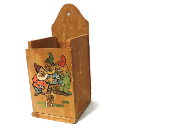 1964 Snow White & The Seven Dwarfs Wooden Crayon Chalk Box