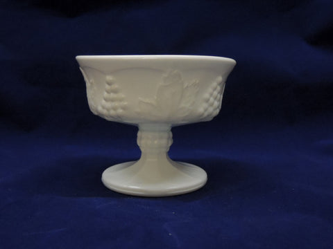 Milk Glass Champagne/Tall Sherbet Dish - Harvest Pattern by Colony