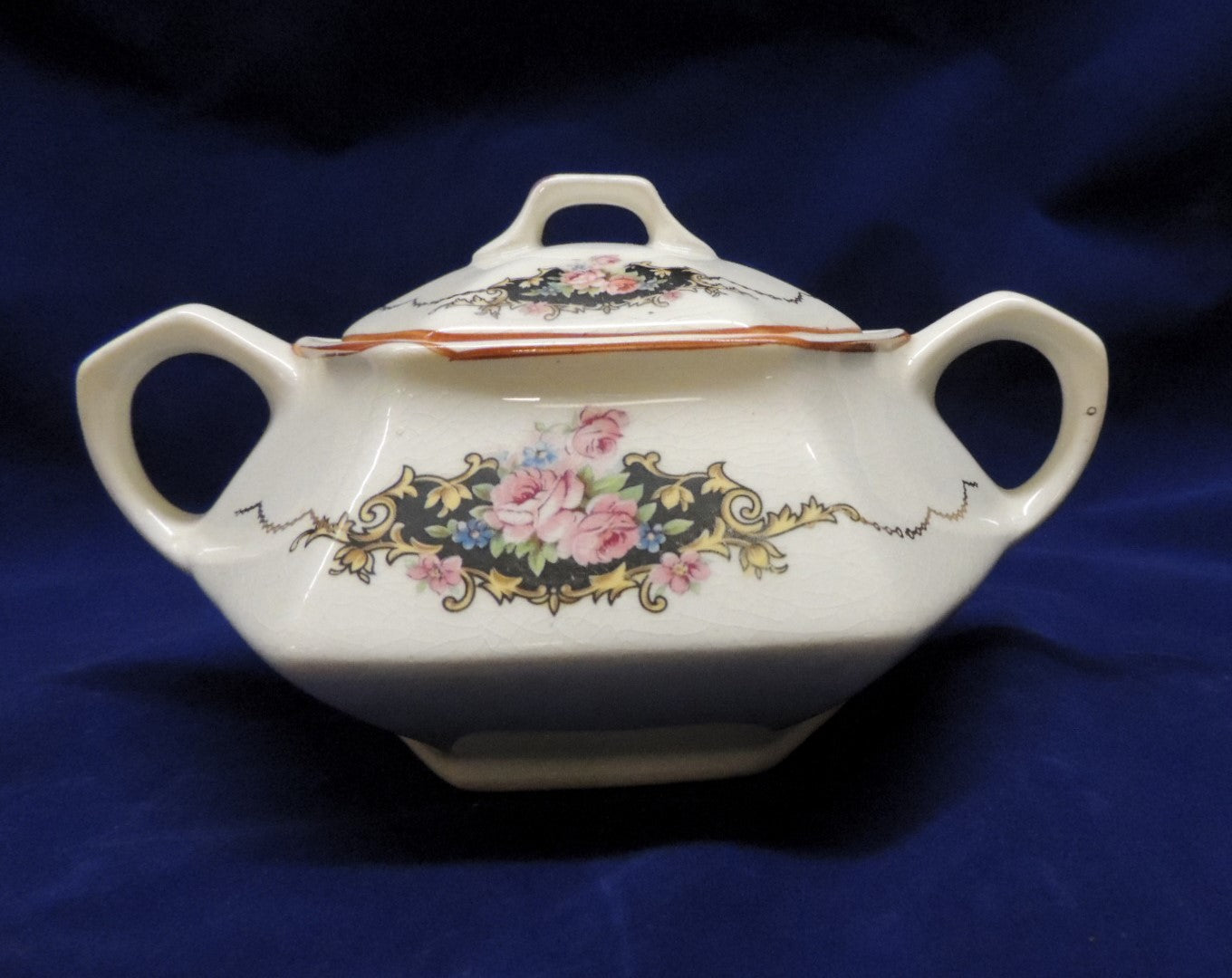Martha Washington Gilded Sugar Bowl