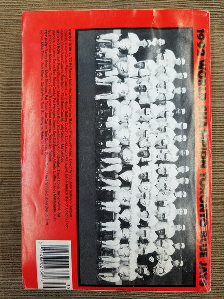 1993 Who's Who in Baseball back cover