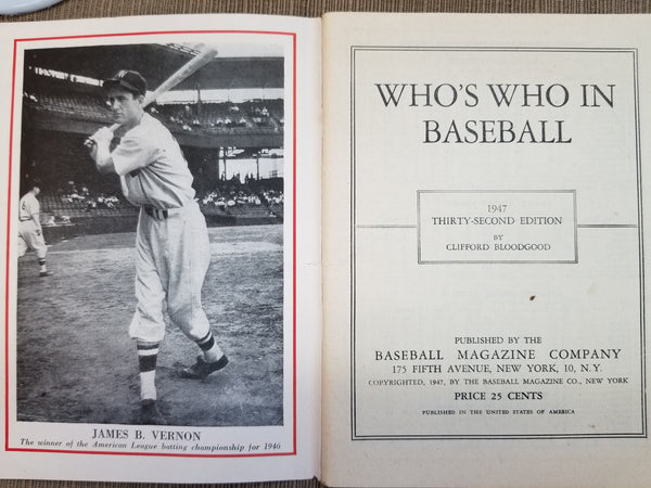 1959 Baseball Register, 32nd Edition