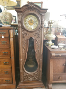 1974 HERTZ CUSTOM MADE ITALIAN GRANDFATHER CLOCK WITH FRENCH MORBIER WESTMINSTER CHIME MOVEMENT