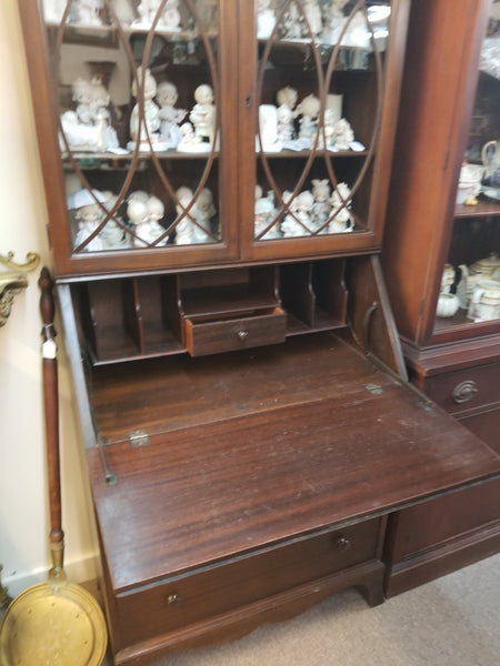1920's-1930's Dropfront SECRETARY HUTCH CHINA CABINET