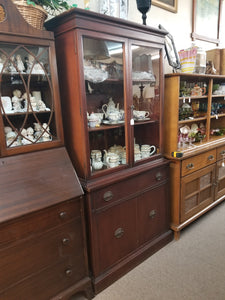 1920's-1930's CHERRY WOOD CHINA CABINET