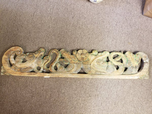 1700's EARLY 1800's ASIAN HAND-CARVED WOODEN FRIEZE