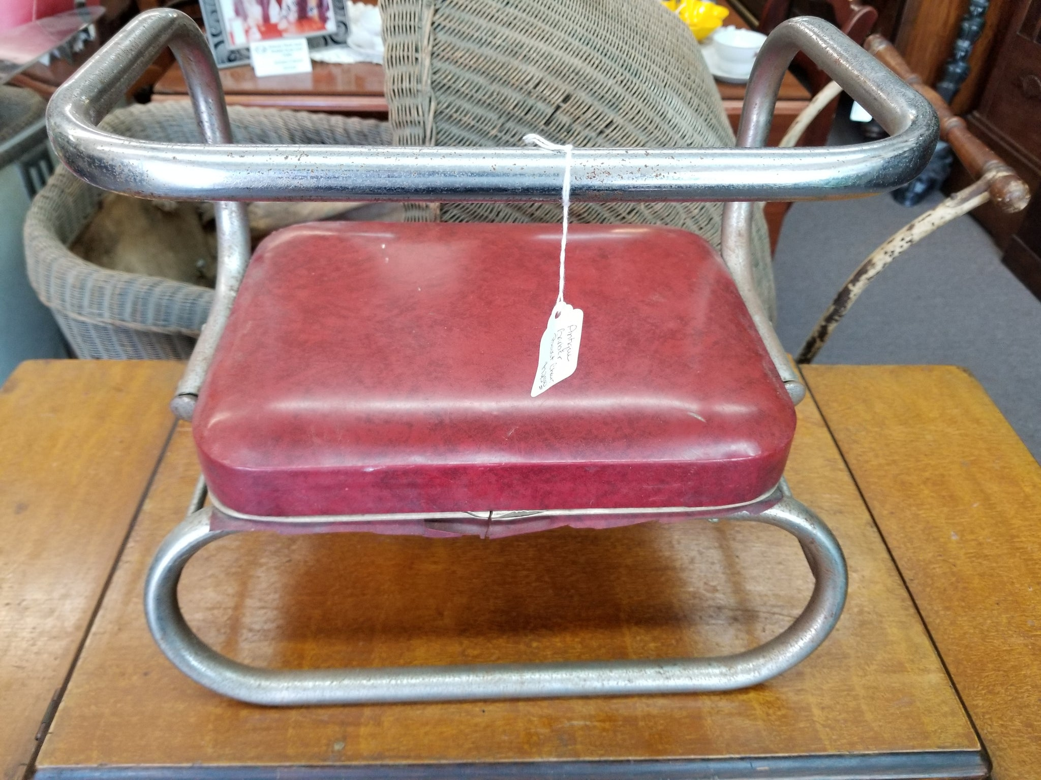 1940's BARBER CHAIR CHILD'S BOOSTER SEAT