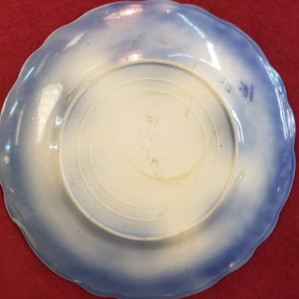 1928 Touraine (Flow Blue) Plate by Stanley Pottery Co.