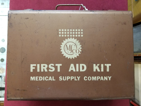 1950'S Medical Supply Company Wall Mounted 1st Aid Kit