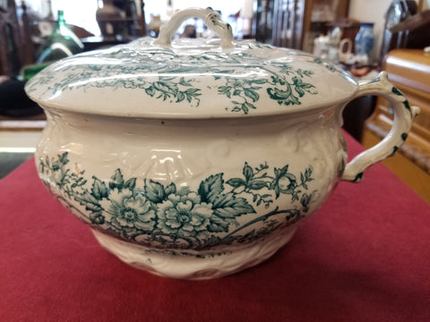 1890's CHAMBER POT WITH LID MADE BY DUDSON, WILCOX & TILL IN ENGLAND