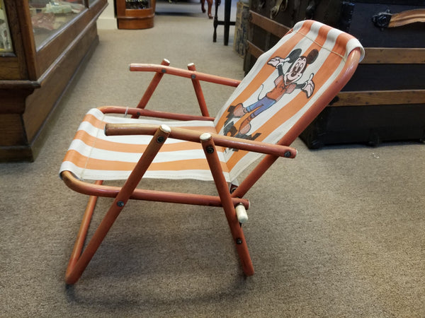 1950's-1960's MICKEY MOUSE FOLDING LAWN CHAIR BY TROPICANA