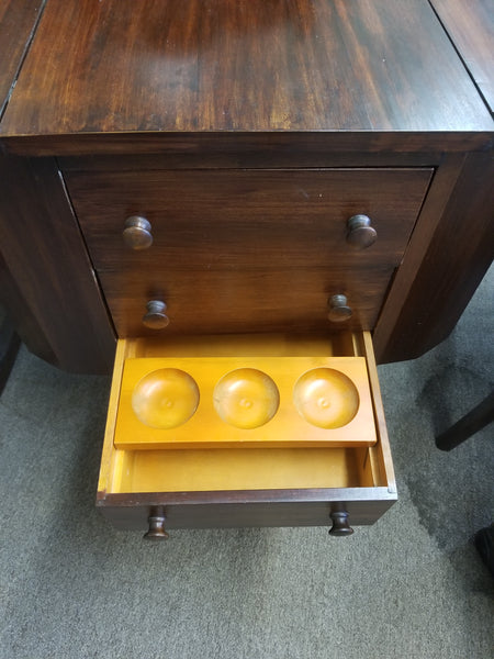 1920's to 1930's MARTHA WASHINGTON SEWING CABINET MAHOGANY AND MAPLE