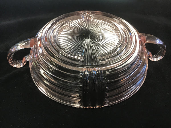 1930's Pink Depression Glass Manhattan Pattern Bowl