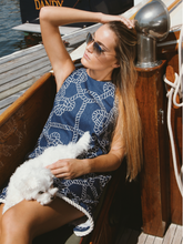 Navy Ropes, Meredith Dress w Cream Rope