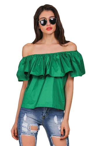 Casual Off Shoulder Butterfly Sleeve Top