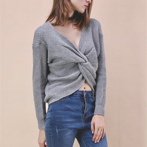 Sylvie Twist Back Knitted Sweater