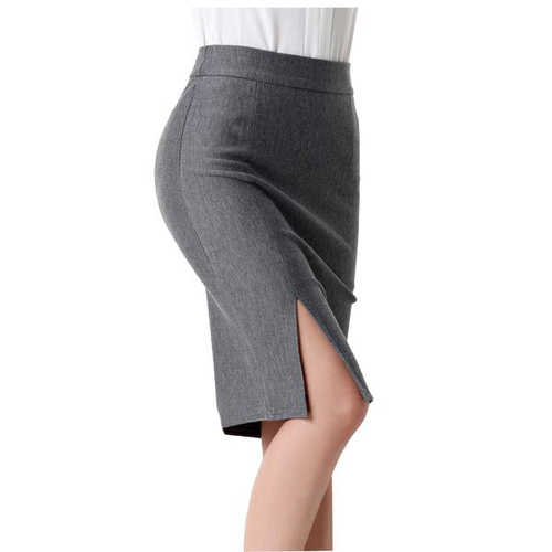 High Waist Side Slit Pencil Skirt