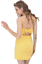 Summer casual sexy backless dress with bow
