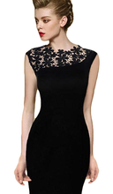 Summer Elegant Floral Lace Cocktail Party Dress