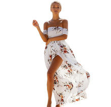 Noémie Vintage Off Shoulder Floral Boho Dress