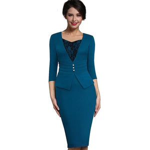 Vintage Elegant Sweet Heart Neckline Office Pencil Dress
